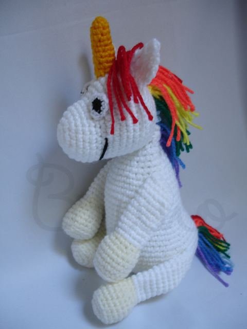 Colorido unicornio Amigurumi mano ganchillo relleno niño de | Etsy | 640x480