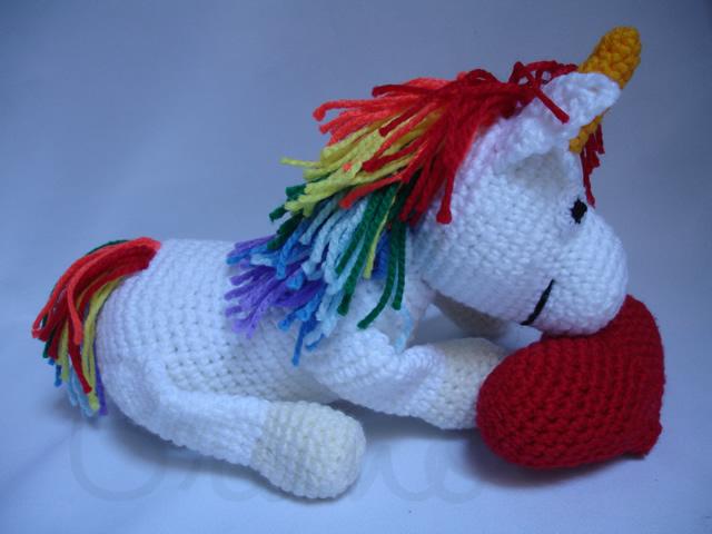 Amigurumi Unicornio Paso A Paso : Terminado: unicornio colorido