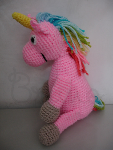 Pink Unicorn Plush Crochet Stuffed Animal Amigurumi Toy Baby ... | 640x480