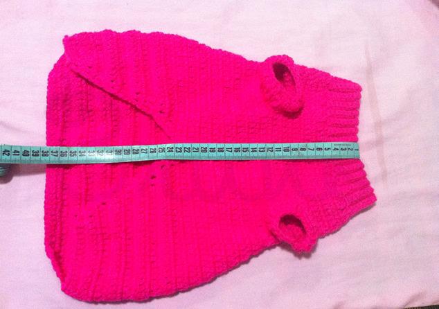 Terminado: suéter para perro